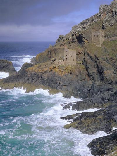 Tin Mine on Coast, Botallack, Cornwall, England, UK, Europe-John Miller-Photographic Print