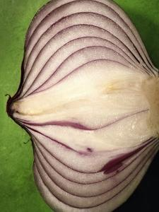 Close-Up of Half of a Red Onion by Tina Chang