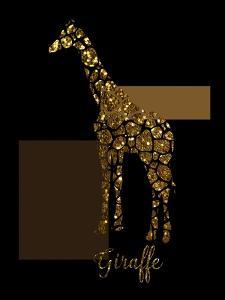 1 Gold Giraffe by Tina Lavoie