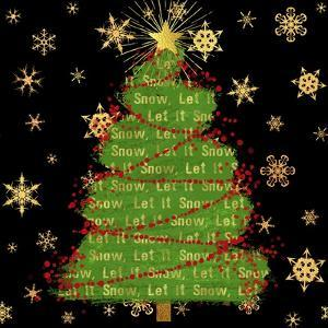 Let it Snow Christmas Tree Black by Tina Lavoie