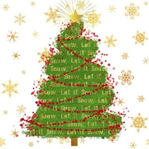Let it Snow Christmas Tree by Tina Lavoie