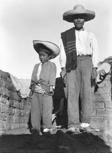 Campesino and Son, State of Veracruz, Mexico, 1927 by Tina Modotti