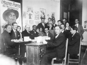 """""""Hands Off Nicaragua"""" Committee, Mexico City, 1928 by Tina Modotti"""