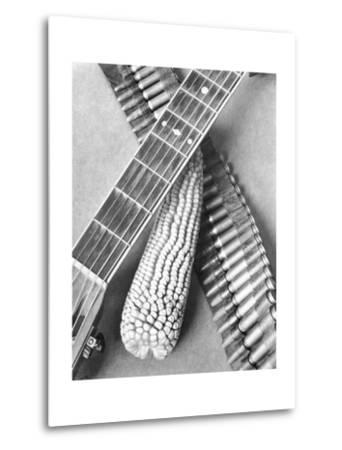 Mexican Revolution, Guitar, Corn and Ammunition Belt, Mexico City, 1927