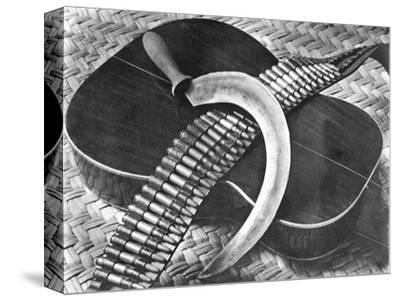 Mexican Revolution: Guitar, Sickle and Ammunition Belt, Mexico City, 1927