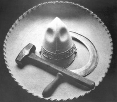 Mexican Revolution: Sombrero with Hammer and Sickle, Mexico City, 1927