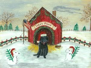 Christmas Labrador by Tina Nichols
