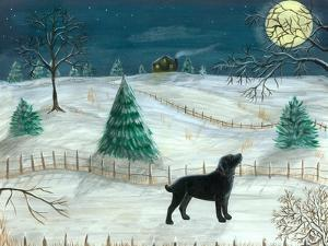 Winter Labrador by Tina Nichols