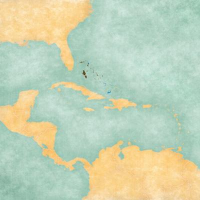 Map of Caribbean - Bahamas (Vintage Series) by Tindo