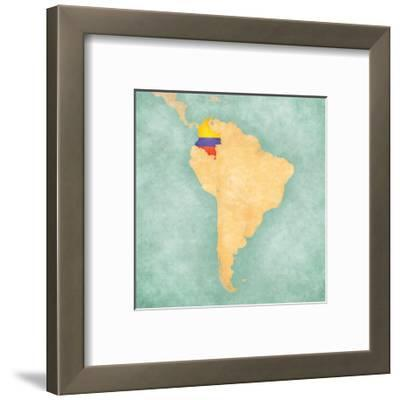 Map Of South America - Colombia(Vintage Series)