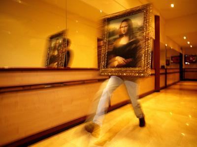A Replica of 'Mona Lisa,' Is Moved at the Now Defunct Imaginary Museum by Tino Soriano