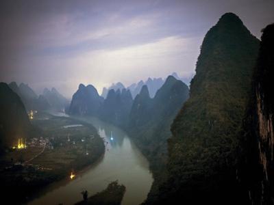 Karst Mountains Along the Li River, Guilin, Guangxi Province, China by Tino Soriano