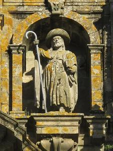 Statue of Saint James on the Facade of the Cathedral of Santiago De Compostela by Tino Soriano