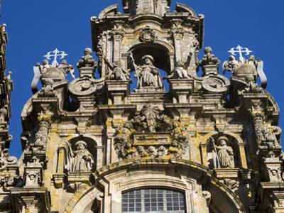 The Highly Detailed 'El Obradoiro' Facade of the Cathedral of Santiago De Compostela by Tino Soriano