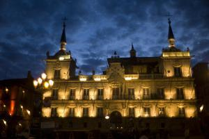 The Plaza Mayor at Night in Leon, Spain by Tino Soriano