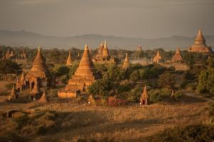 View of Stupas from the Shwesandaw Pagoda by Tino Soriano