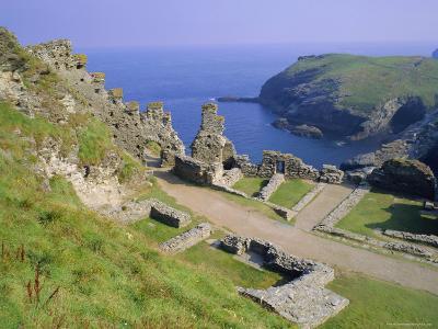 Tintagel Castle, Associated with the Legend of King Arthur, Tintagel, Cornwall, England, UK-Roy Rainford-Photographic Print