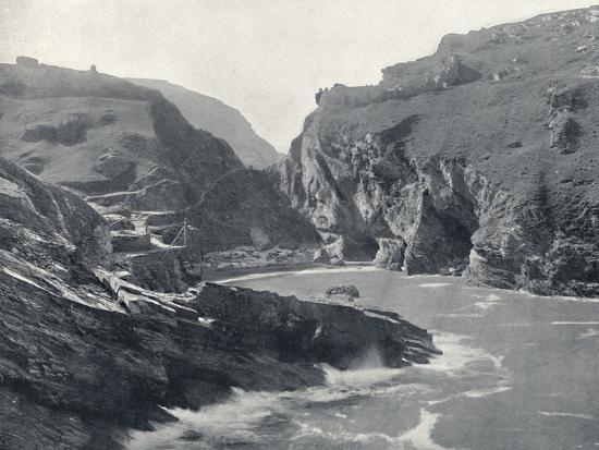 'Tintagel - Showing King Arthur's Castle', 1895-Unknown-Photographic Print