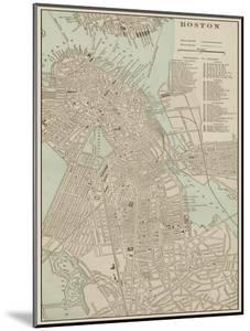 Tinted Map of Boston