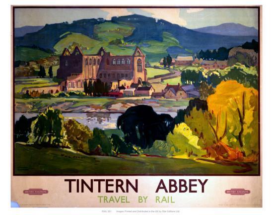 Tintern Abbey, Travel by Rail--Art Print