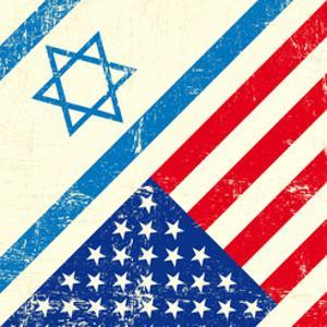 Israel And American Grunge Flag by TINTIN75