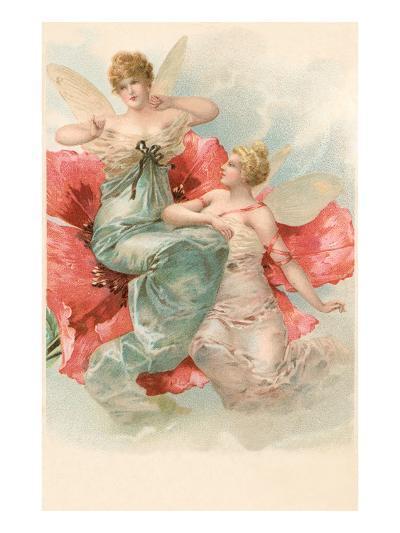 Tiny Angels in Poppy Flower--Art Print