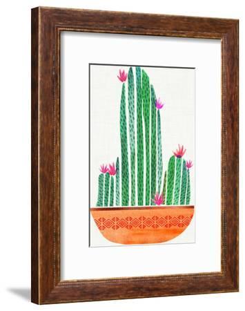Tiny Cactus Blossoms-Modern Tropical-Framed Art Print