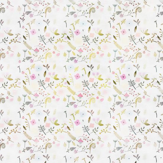 Tiny Flower Pattern - Square-Lebens Art-Giclee Print
