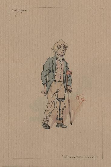 Tiny Tim - a Christmas Carol, C.1920s-Joseph Clayton Clarke-Giclee Print