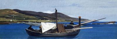 Tip of Romito with Boat and Fishermen-Giovanni Fattori-Giclee Print