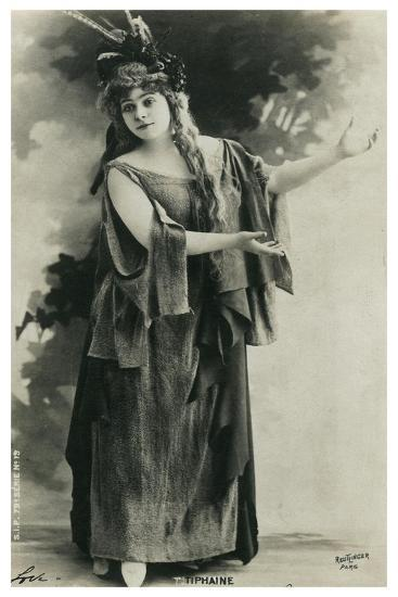 Tiphaine, French Actress, Late 19th or Early 20th Century--Giclee Print