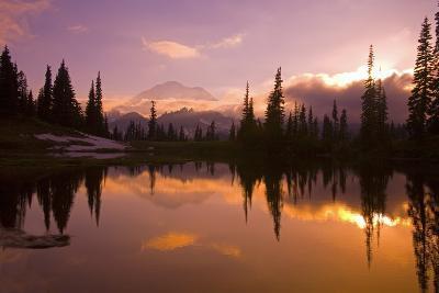Tipsoo Lake and Mount Rainier-Craig Tuttle-Photographic Print
