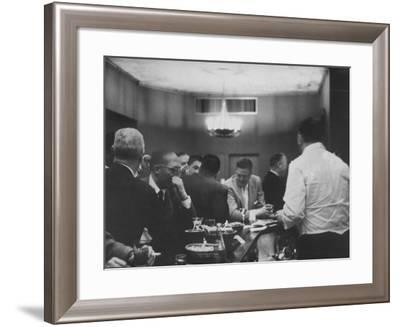 Tired Businessmen on the Way Home, Stop at Gobbler Bar on Madison Avenue--Framed Photographic Print