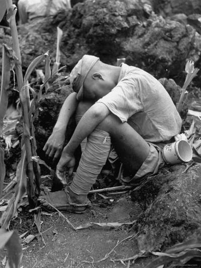 Tired Chinese Infantryman-Jack Wilkes-Photographic Print