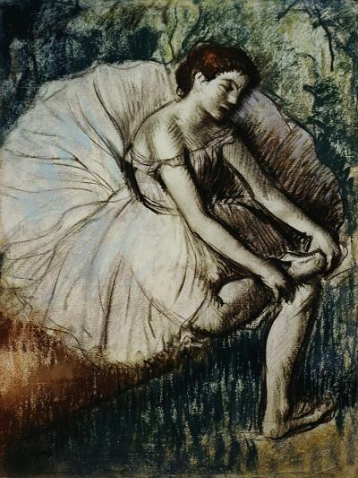 Tired Dancer-Edgar Degas-Giclee Print