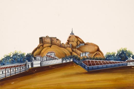 Tiruchirapalli Rock Fort City in the State of Tamil Nadu, from Thanjavur,  India Giclee Print by | Art com