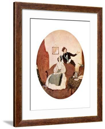 Tis Lisette Whom I Adore, and with Reason More and More, C1900-1950--Framed Giclee Print