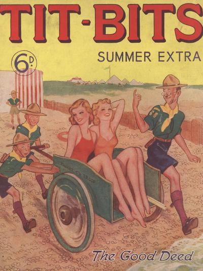 Tit-bits, Boy Scouts Holiday Beaches Magazine, UK, 1930--Giclee Print