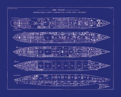 Titanic Blueprint II-The Vintage Collection-Giclee Print