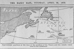 Titanic Location Map