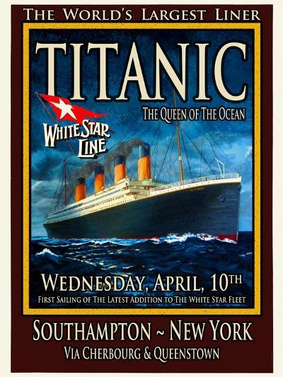 Titanic White Star Line Travel Poster 2-Jack Dow-Giclee Print
