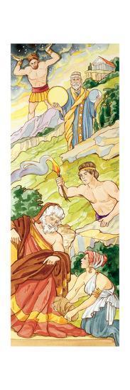 Titans, Greek Mythology-Encyclopaedia Britannica-Art Print