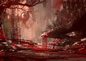 Horror Landscape Painting,Illustration Art by Tithi Luadthong