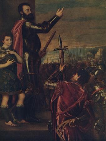 'Speech of the Marquis del Vasto', c1540, (c1934)