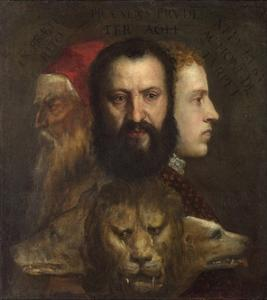 An Allegory of Prudence by Titian (Tiziano Vecelli)