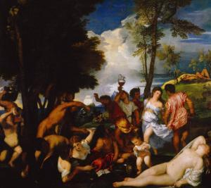 Bacchanal by Titian (Tiziano Vecelli)