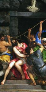 Christ Crowned with the Crown of Thorns by Titian (Tiziano Vecelli)