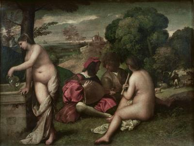 Concert Champetre, Open-Air Concert, Formerly Attributed to Giorgione, C. 1510