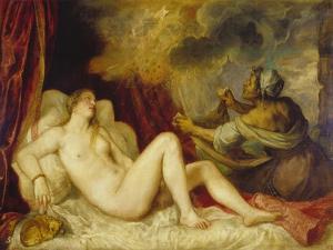 Danae, 1553 by Titian (Tiziano Vecelli)
