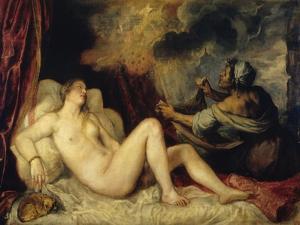 Danae by Titian (Tiziano Vecelli)